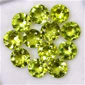 Natural Peridot 7 MM Round Faceted Cut 25 Pieces