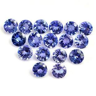 Tanzanite  5x5 MM Round Faceted Cut 50  Pieces