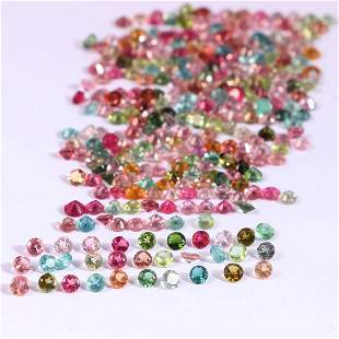 Tourmaline  2.5 MM Round Faceted Cut 100  Pieces