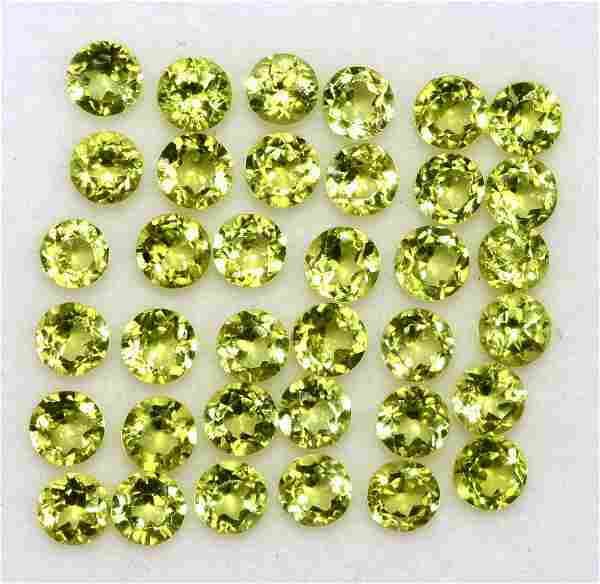 Natural Peridot 3 MM Round Faceted Cut 100 Pieces