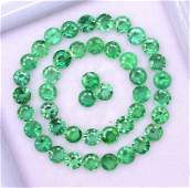 Natural Emerald 2 MM Round Faceted Cut 25 Pieces