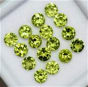Natural Peridot 4 MM Round Faceted Cut 50 Pieces