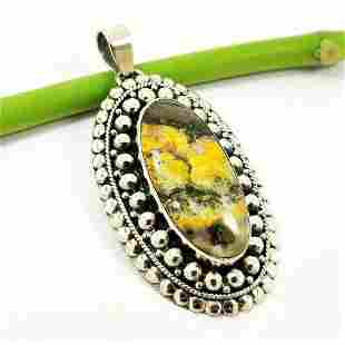 BUMBLE BEE JASPEFR 925 STERLING SILVER PENDANT