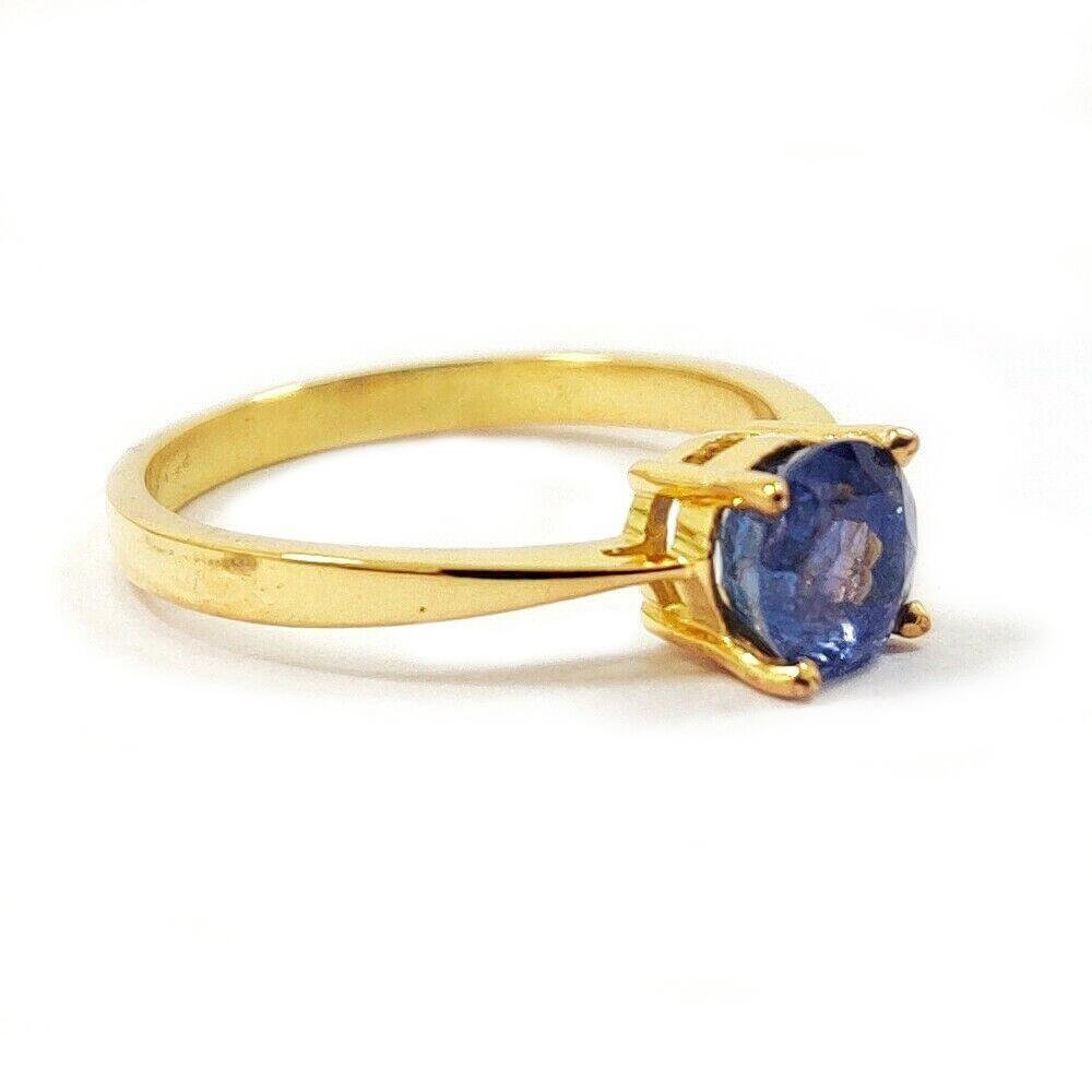 TANZANITE GEMSTONE 14KT YELLOW GOLD RING