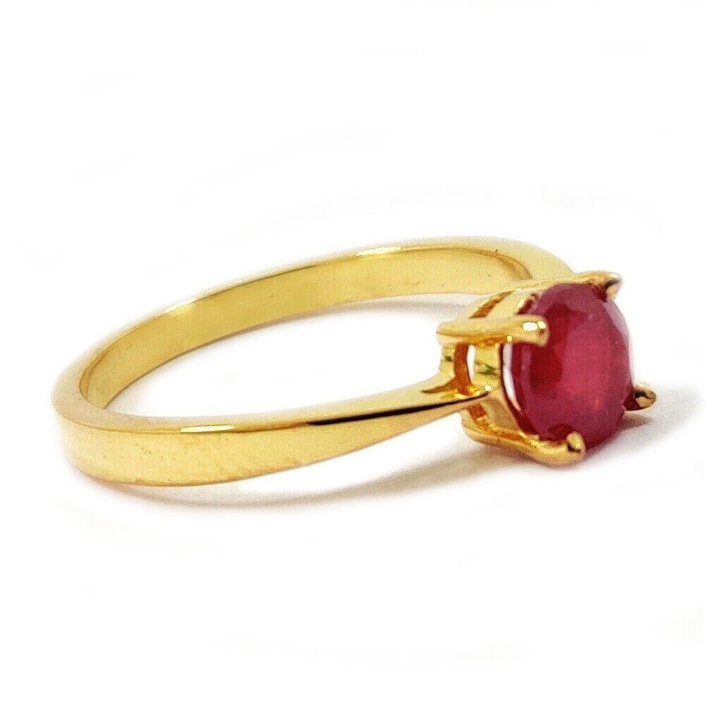 RUBY GEMSTONE 14KT YELLOW GOLD RING
