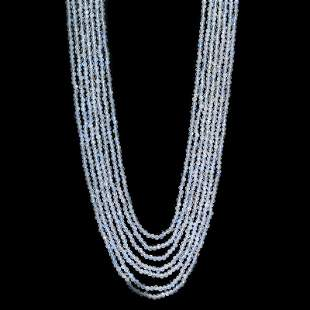 Rainbow Moonstone 2.5 MM Round Faceted Beads Necklace 7