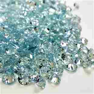 Aquamarine 5 MM Round Faceted Cut 50 Pieces