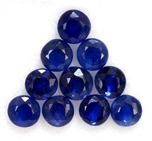 Blue Sapphire 4 MM Round Faceted Cut 50 Pieces
