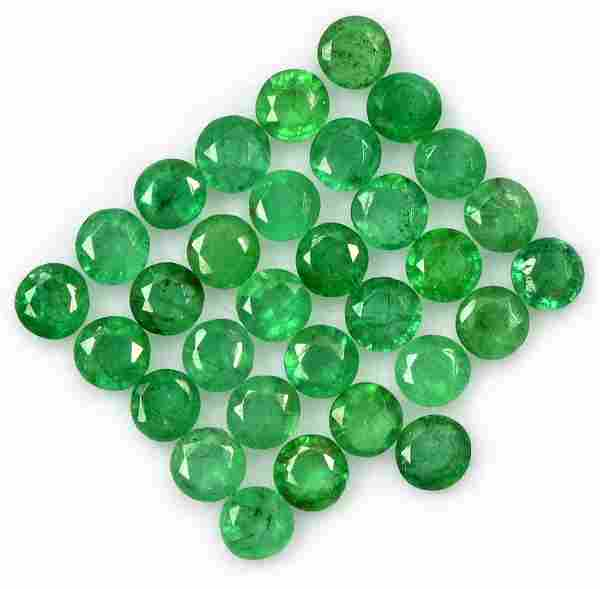 Emerald 3 MM Round Faceted Cut 100 Pieces
