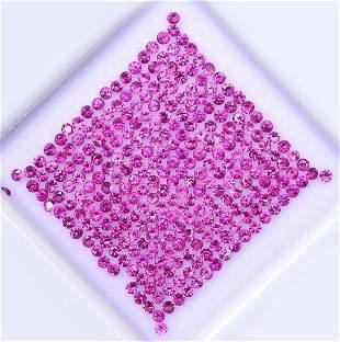 Pink Sapphire 1.25 MM Round Diamond Cut 250 Pieces