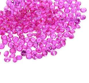 Pink Sapphire 1.50 MM Round Diamond Cut 250 Pieces