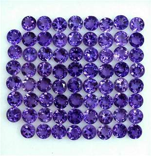 Amethyst 3 MM Round Faceted Cut 250 Pieces
