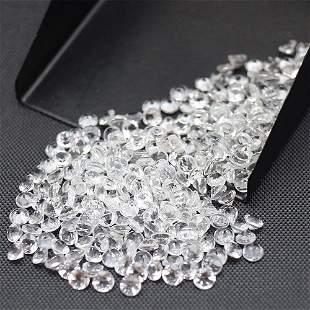 White Topaz 3 MM Round Diamond Cut 100 Pieces