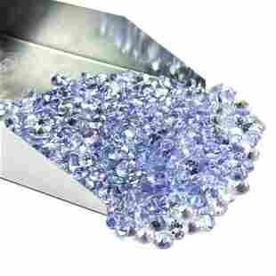 Tanzanite 2 MM Round Faceted Cut 100 Pieces