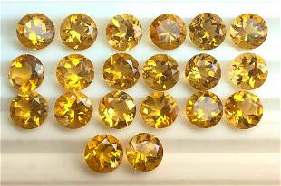 Citrine 6 MM Round Faceted Cut 25 Pieces