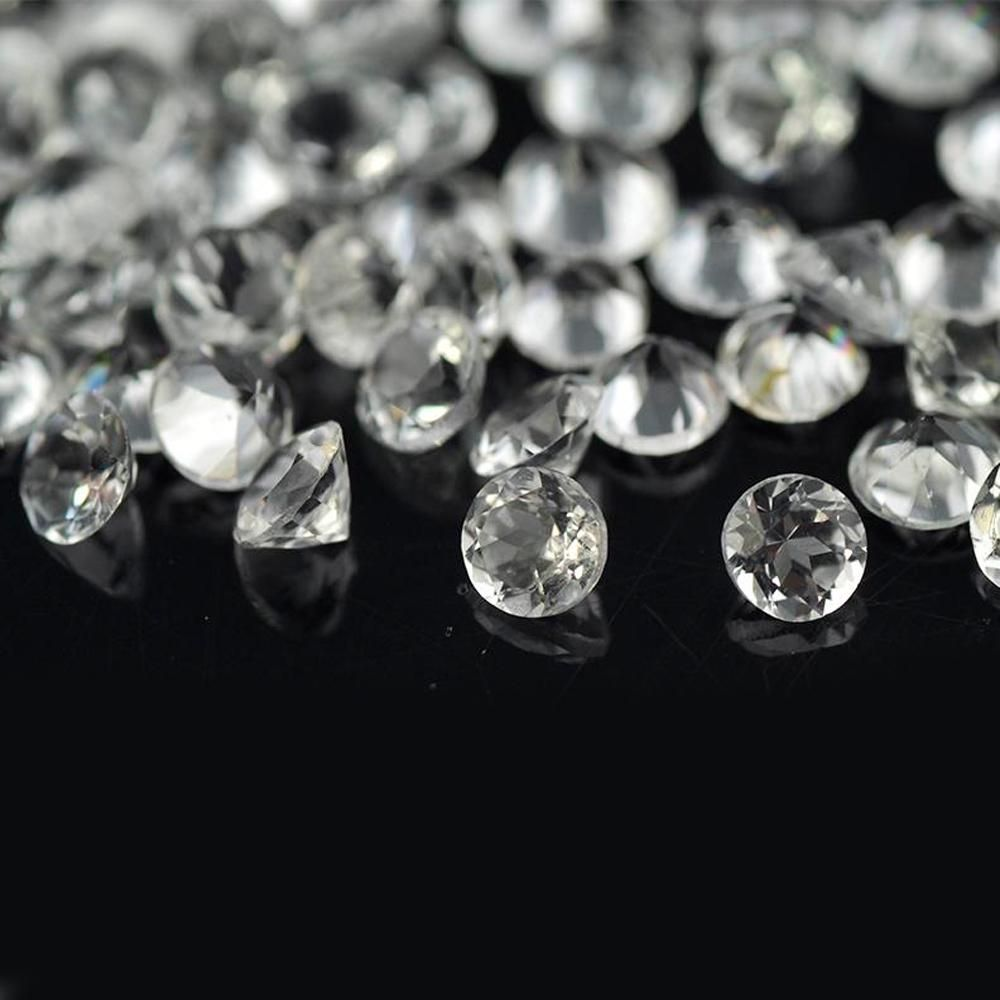 White Topaz 4 MM Round Faceted Cut 100 Pieces