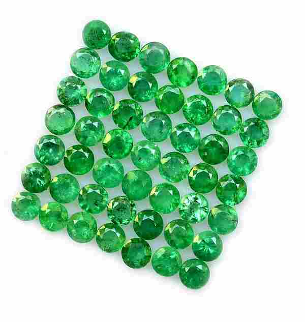 Emerald 2 MM Round Faceted Cut 100 Pieces