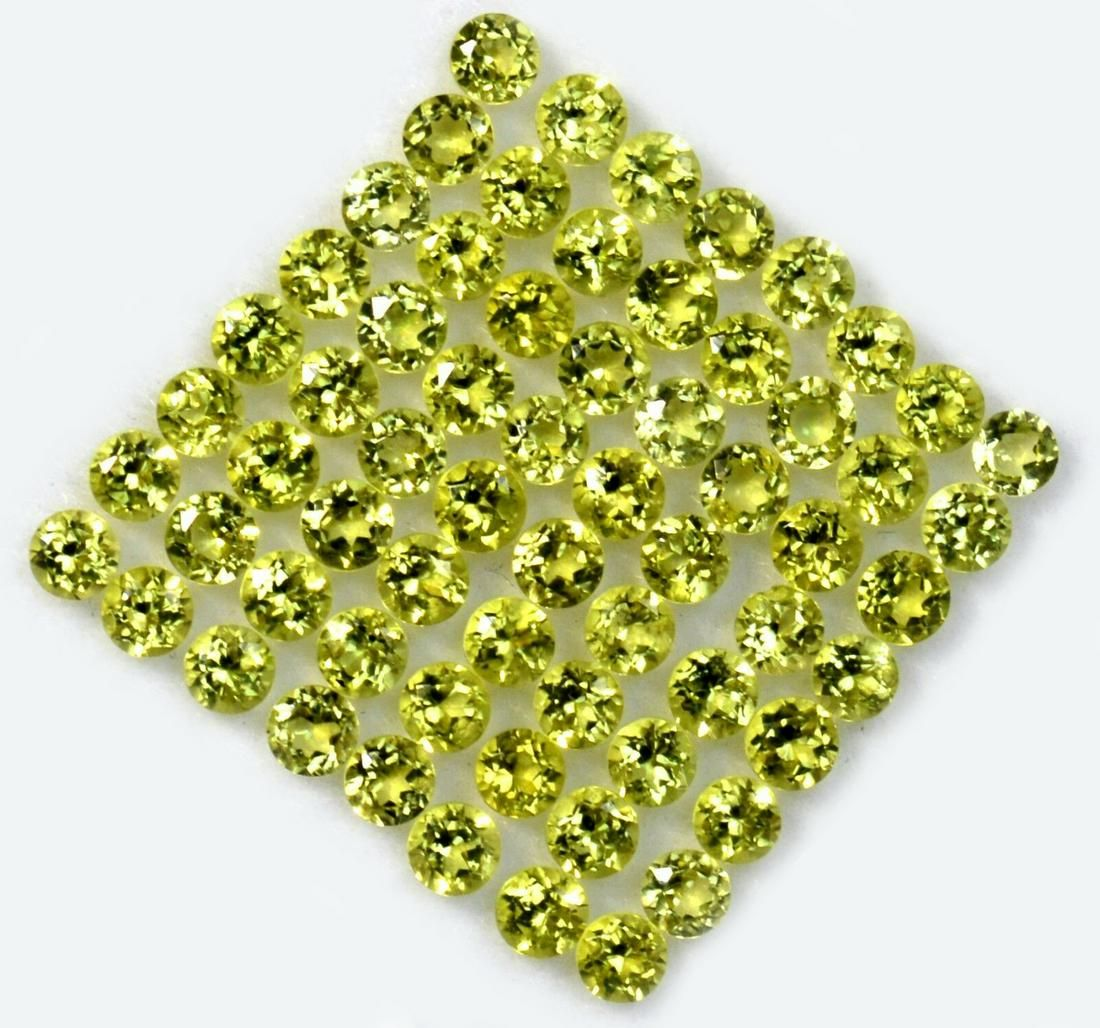 Peridot 3.50 MM Round Faceted Cut 100 Pieces