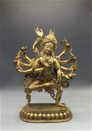 Tibetan Gilt Seated Buddha