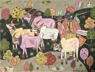 A A  Almelkar Indian 1920 - 1982 Painting
