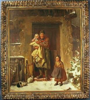 Georg Friedrich Bischoff Oil on Canvas
