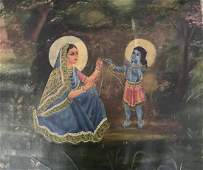 Early 20 th century Indian oil painting of Bengal Schoo