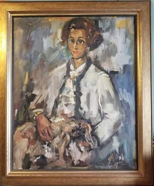 Portrait Oil on Canvas Signed George Morvan
