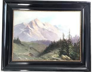 Landscape Oil Canvas Signed John Fery