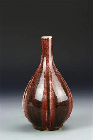 Chinese Oxblood Glazed Vase
