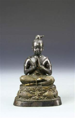 Southeast Asian Bronze Buddha