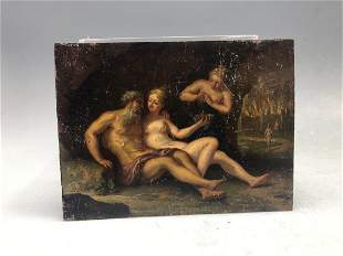 Antique Miniature Painting on Metal