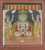 Indian Jain miniature painting of Mahavira