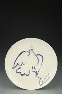 Picasso Dove Ceramic plate