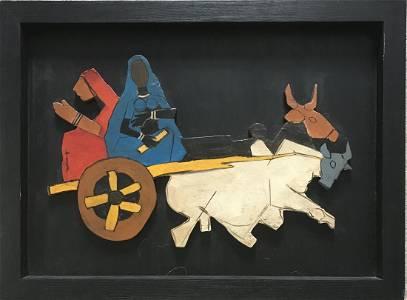 Maqbool Fida Husain ( Indian 1915 -2011): Toy Ox Cart