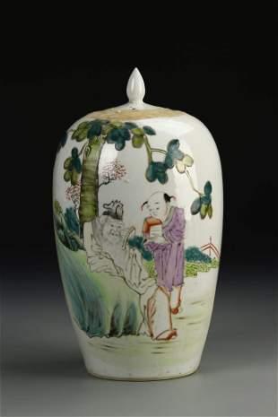 Chinese Famille Rose Tea Jar