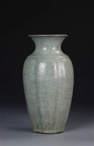 Chinese Song Dynasty Longquan Gourd Vase