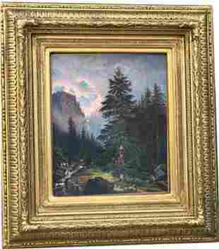 Oil on canvas Signed with Insignia Albert Bierstadt