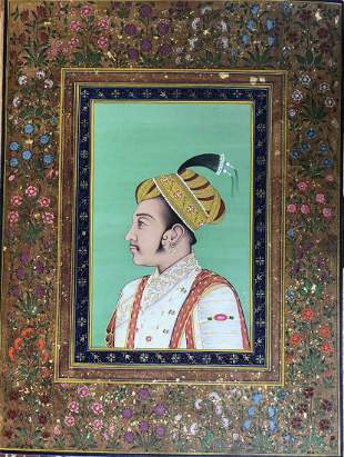 Indian Miniature painting of Mughal Emperor