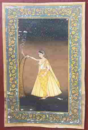 Indian Miniature Painting of a Queen