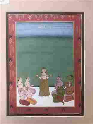 Indian Rajasthani Miniature Painting of Mohini