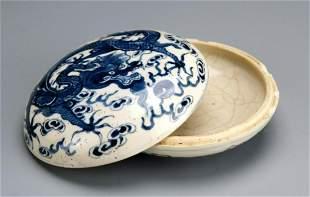 Chinese Soft-Paste Porcelain Seal Paste Box