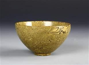 Chinese Marble Glazed Bowl
