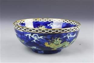 English Ceramic Dragon Bowl