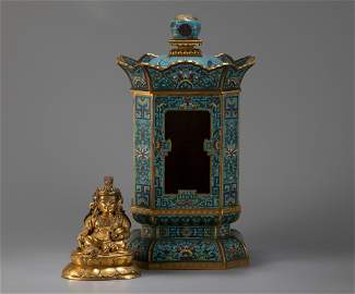 A Chinese Cloisonne Niche