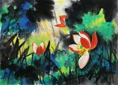 A Chinese Painting By Huang Yongyu on Paper Album