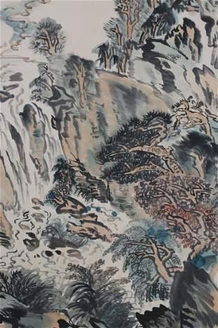 A Chinese Scroll Painting By Lu Yanshao