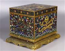 Falang Dragon and Lotus Box