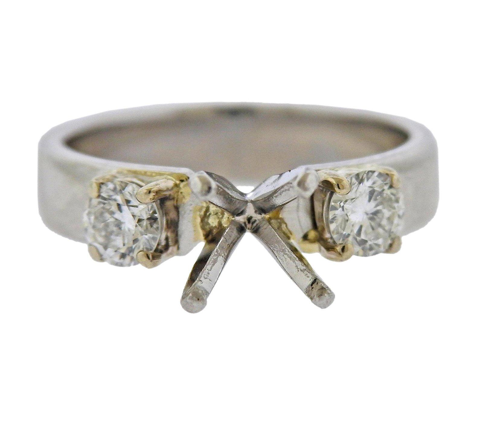 Platinum Diamond Egagement Ring Setting