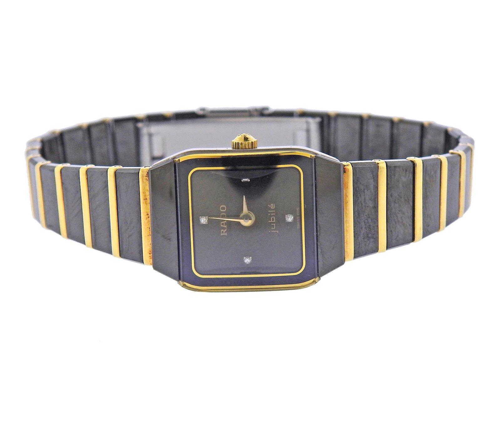 Rado Jubile Diamond Black Ceramic Watch