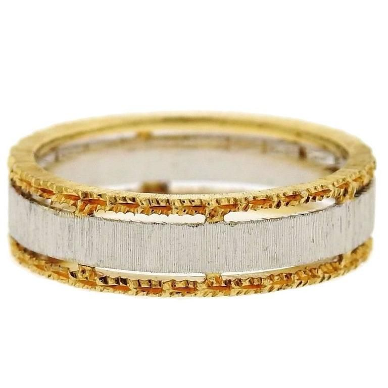 Buccellati Two Color Gold Wedding Band Ring